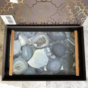 NEW Kendra Scott Rose Gold Agate Large Stone Tray